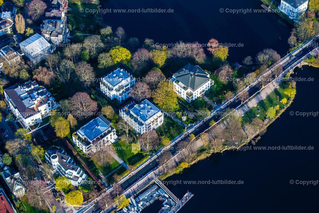 Hamburg_Uhlenhorst_Schöne_Aussicht_Feenteich_ELS_4911200421 | HAMBURG 20.04.2021 Häuser und Straßenzug