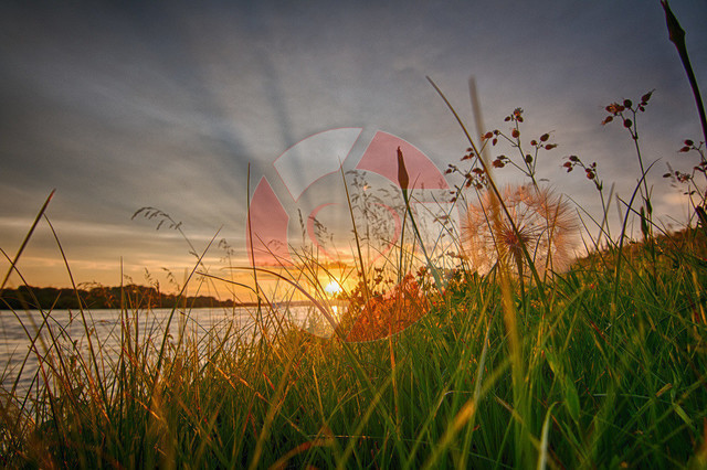 Sonnenuntergang | Sonnenuntergang an der Donau