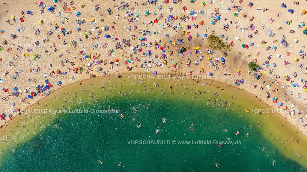 Haltern13081746a | Silbersee II aus der Luft, Sandstrand und türkisfarbenes Wasser, Luftbild von Haltern am See