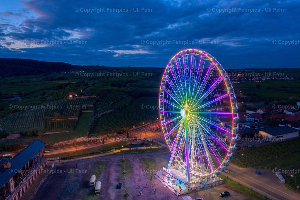 City Star Riesenrad in der blauen Stunde