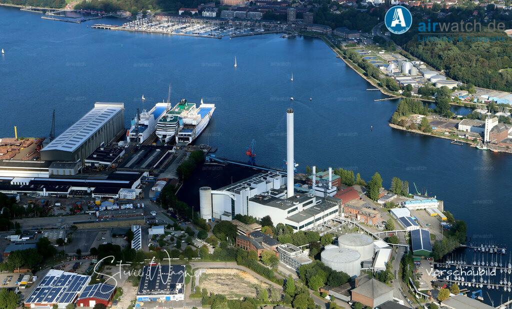 Luftbild Flensburger Foerde, Flensburger Stadtwerke, Werft, FSG | Flensburger Foerde, Flensburger Stadtwerke, Werft, FSG • max. 6240 x 4160 pix