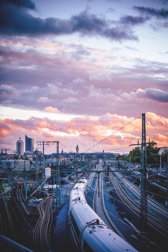 Zugeinfahrt Leipzig