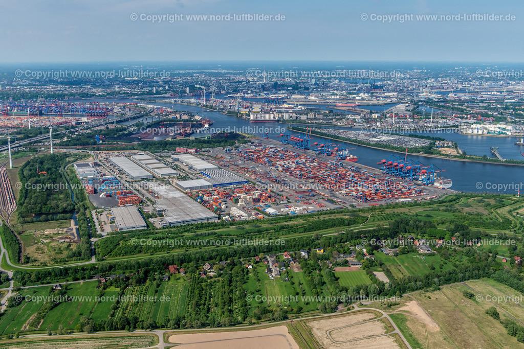 Hamburg Altenwerder CTA_HHLA_ELS_7171170517 | Hamburg - Aufnahmedatum: 17.05.2017, Aufnahmehöhe: 474 m, Koordinaten: N53°29.012' - E9°54.999', Bildgröße: 7106 x  4742 Pixel - Copyright 2017 by Martin Elsen, Kontakt: Tel.: +49 157 74581206, E-Mail: info@schoenes-foto.de  Schlagwörter:Hamburg,Luftbild, Luftbilder, Deutschland