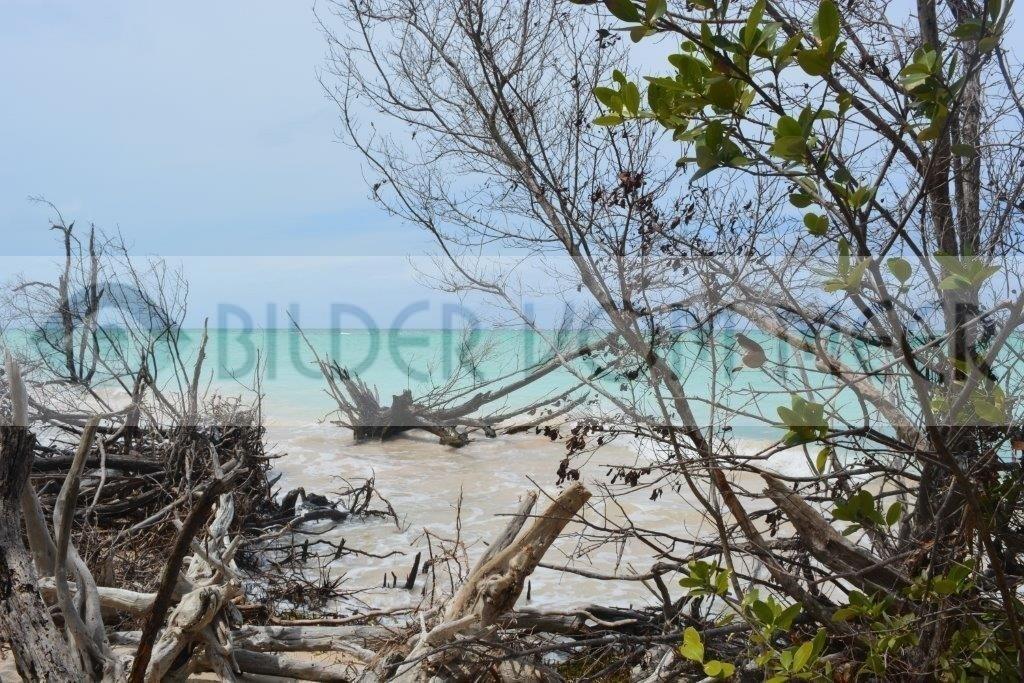 Bilder vom Meer Karibik | Blick von der Insel auf den Kuba Strand