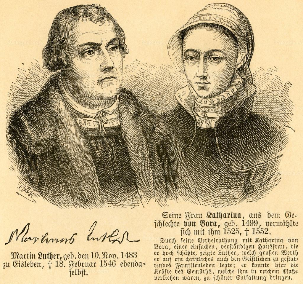 Martin Luther und Katharina von Bora / Martin Luther and Katharina von Bora   Europa, Deutschland, Sachsen-Anhalt, Eisleben, Martin Luther und Katharina von Bora, Motiv aus :