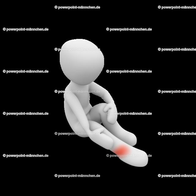 He hurt his ankle | Quelle: https://3dman.eu   Jetzt 250 Bilder kostenlos sichern