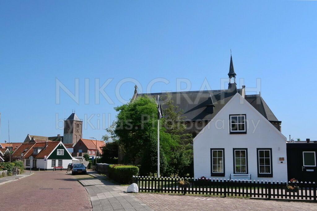 Ortseingang Oosterend | Der Ortseingang des Dorfes Oosterend im Osten der Nordseeinsel Texel.