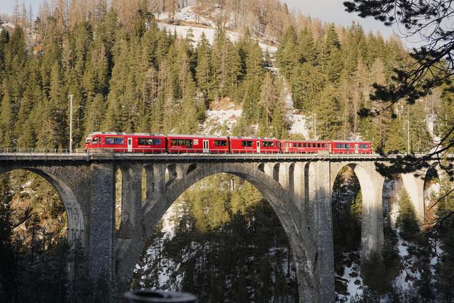 Wiesener Viadukt   Ein Regionalzug überquert das Wiesener Viadukt.