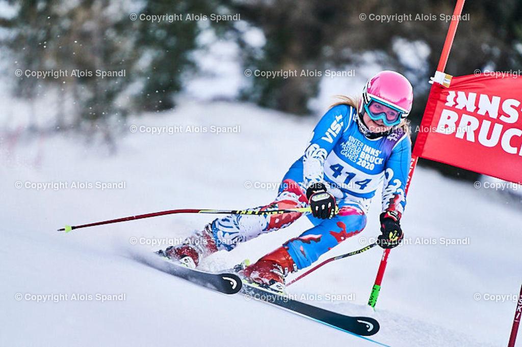 ALS5775_WWMG_GS-II_C | (C) FotoLois.com, Alois Spandl, WinterWorldMastersGames 2020 Innsbruck, Giant Slalom-II Gruppe C Damen, Patscherkofel Olympiaabfahrt, Mi 15. Jänner 2020.