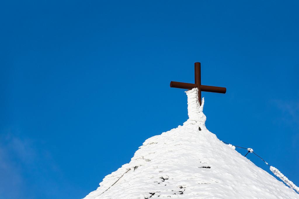 rk_05752 | Detail eines Gebäudes auf der Schneekoppe im Riesengebirge in Tschechien.