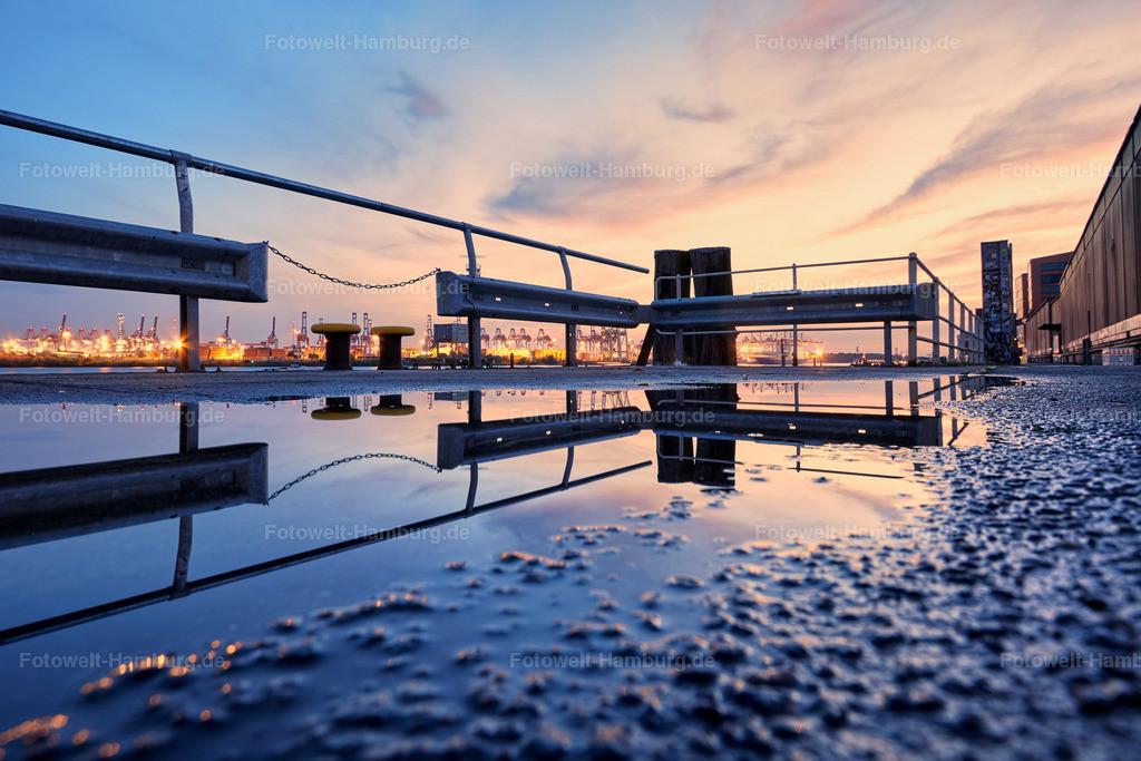 11817583 - Sonnenuntergang im Hamburger Hafen