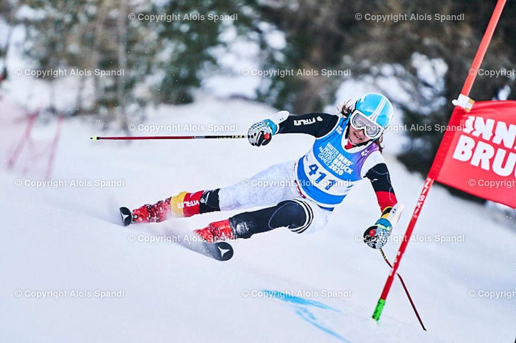 ALS5740_WWMG_GS-II_C | (C) FotoLois.com, Alois Spandl, WinterWorldMastersGames 2020 Innsbruck, Giant Slalom-II Gruppe C Damen, Patscherkofel Olympiaabfahrt, Mi 15. Jänner 2020.