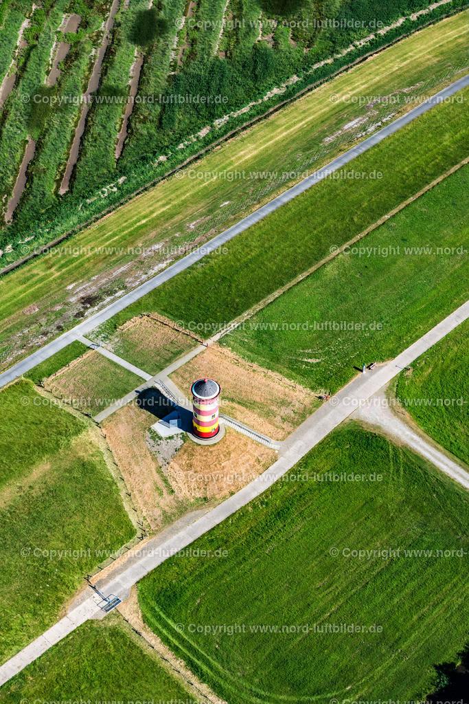 Pilsumer Leuchtturm_ELS_0662280618 | Pilsum - Aufnahmedatum: 28.06.2018, Aufnahmehöhe: 184 m, Koordinaten: N53°29.800' - E7°02.835', Bildgröße: 5504 x  8256 Pixel - Copyright 2018 by Martin Elsen, Kontakt: Tel.: +49 157 74581206, E-Mail: info@schoenes-foto.de  Schlagwörter:Niedersachsen,Leuchtturm,Luftbild, Luftbilder, Deutschland