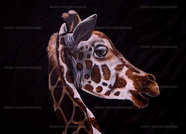 Giraffe 2 4000x300_bearbeitet-1 | Phantastischer Realismus aus dem Atelier Conny Krakowski. Verkäuflich als Poster, Leinwanddruck und vieles mehr.