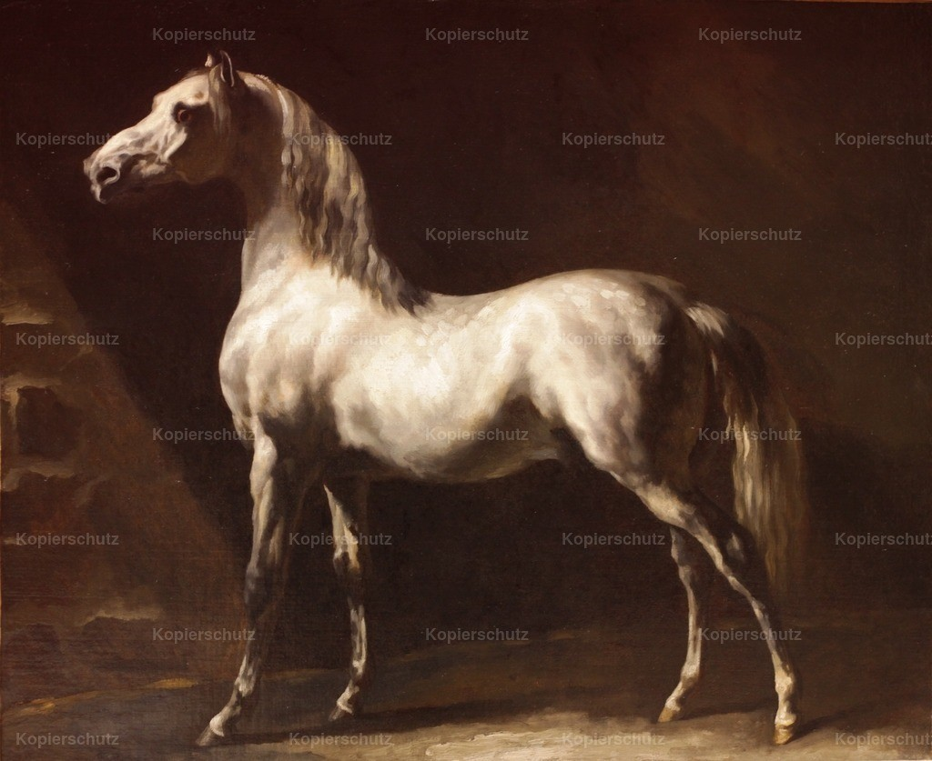G_ricault_Th_odore (1791-1824) - White Arabian Horse before 1824