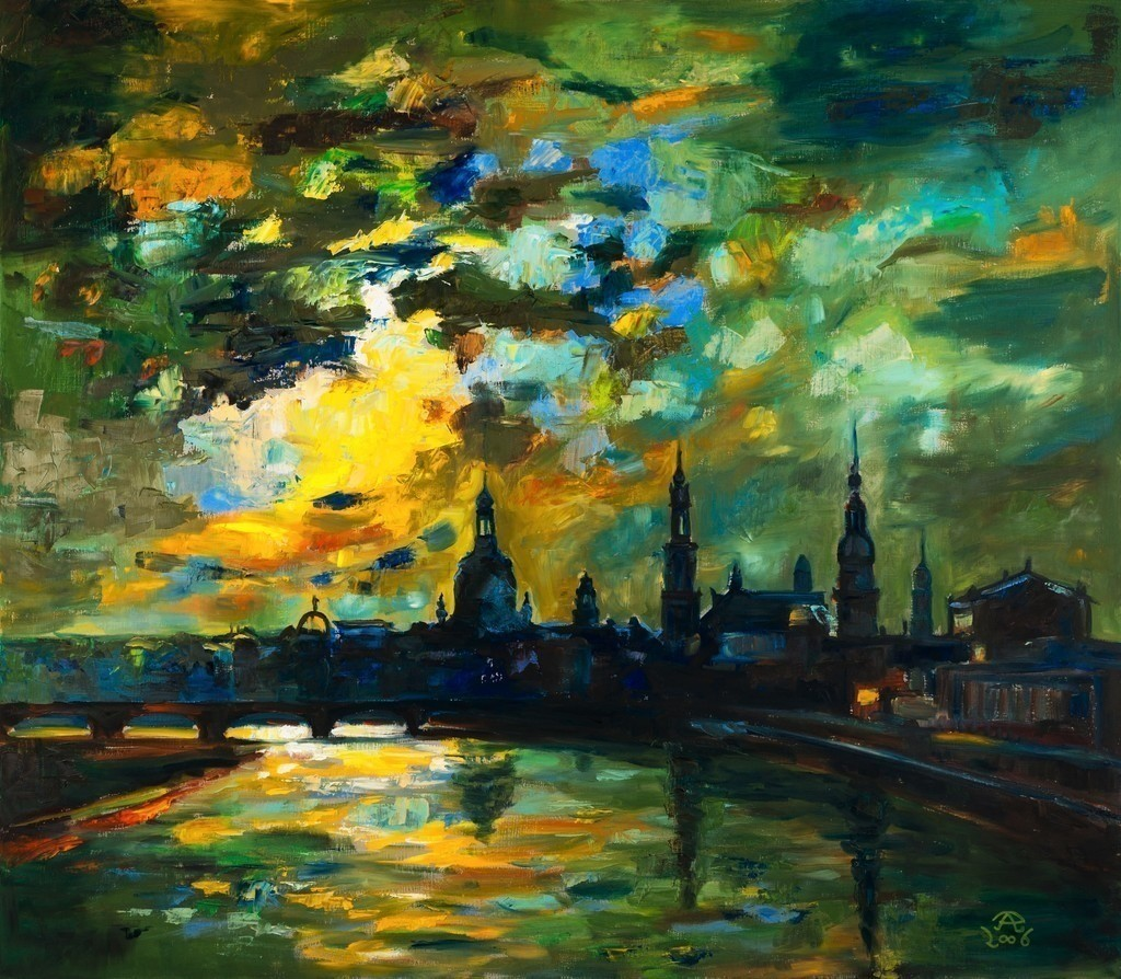 Mein Dresden bei Nacht | Originalformat: 70x80cm  -  Produktionsjahr: 2006