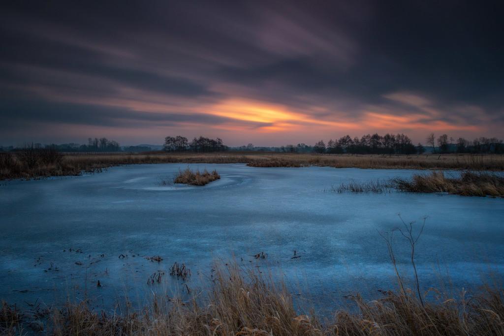 Winter in den Hammewiesen | Langzeitbelichtung an einer Blänke.