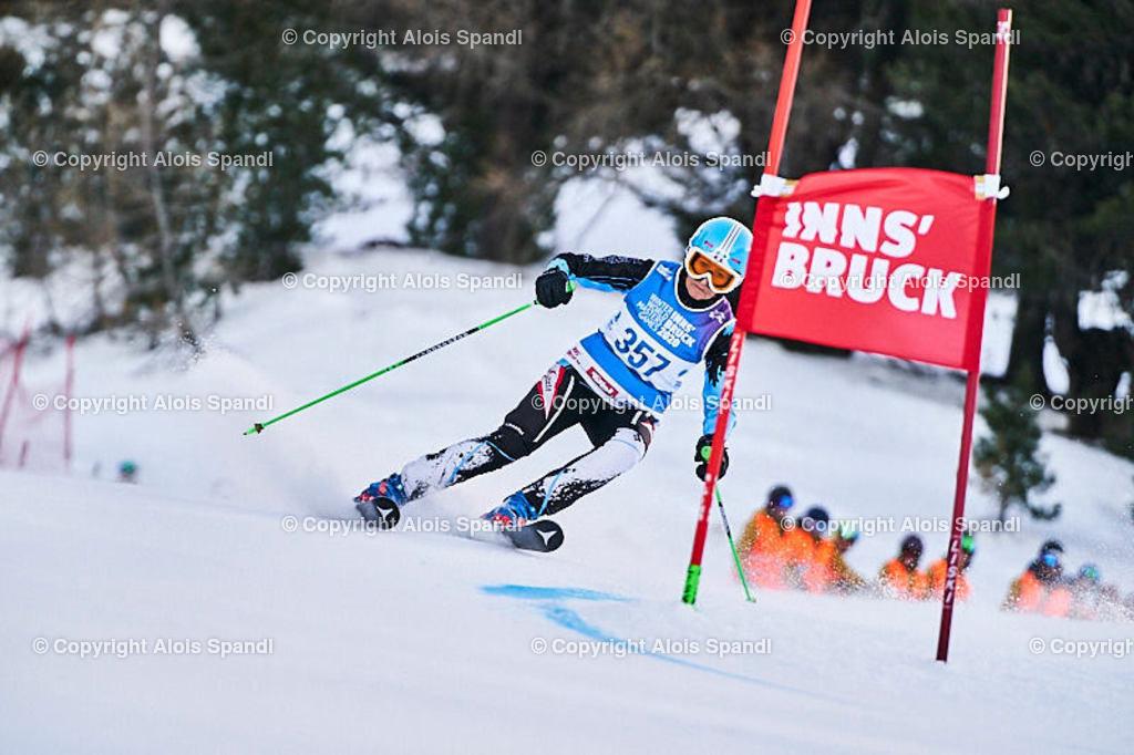 ALS5438_WWMG_GS-II_C | (C) FotoLois.com, Alois Spandl, WinterWorldMastersGames 2020 Innsbruck, Giant Slalom-II Gruppe C Damen, Patscherkofel Olympiaabfahrt, Mi 15. Jänner 2020.