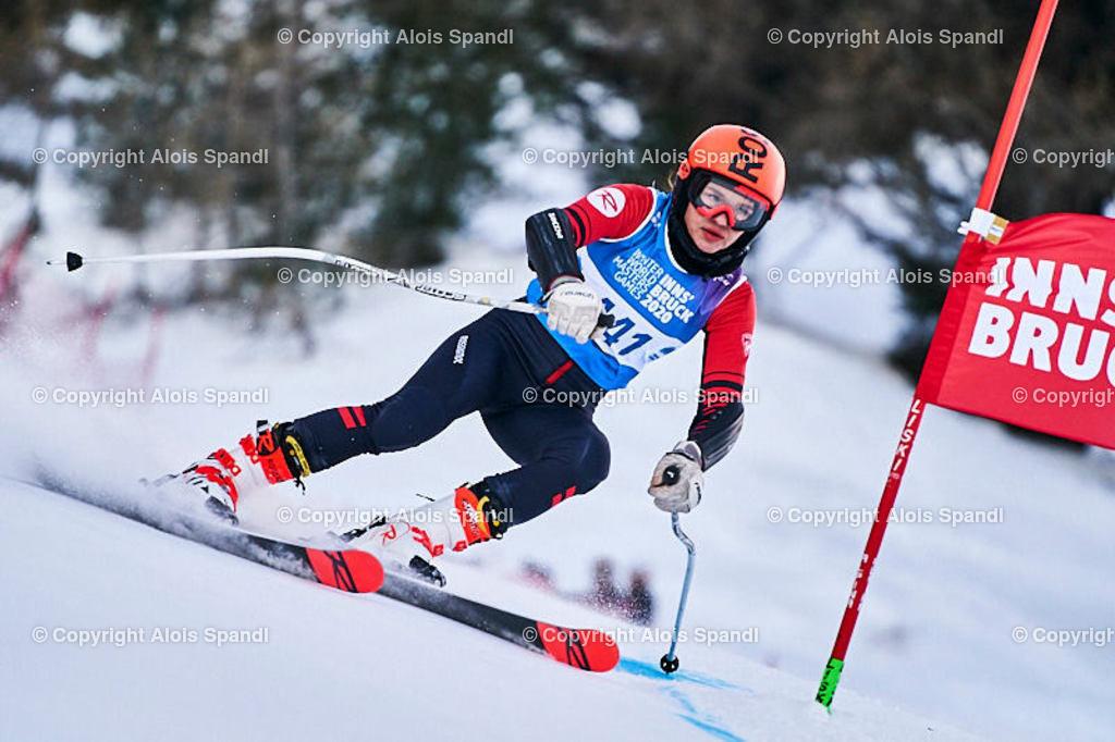 ALS5881_WWMG_GS-II_C | (C) FotoLois.com, Alois Spandl, WinterWorldMastersGames 2020 Innsbruck, Giant Slalom-II Gruppe C Damen, Patscherkofel Olympiaabfahrt, Mi 15. Jänner 2020.