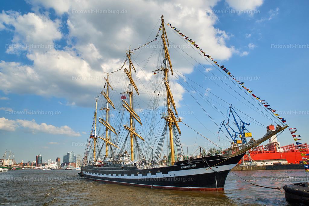 11988610 - Kruzenshtern | Das Segelschiff Kruzenshtern beim Hafengeburtstag 2018