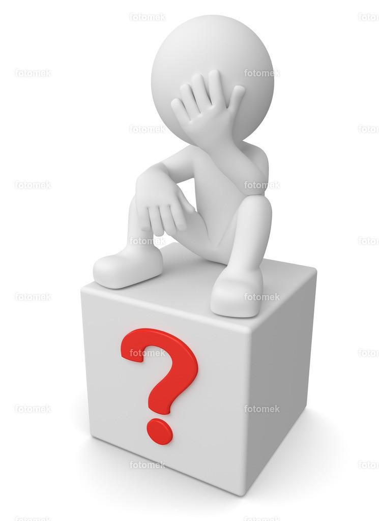 3d Männchen Verzweifelt Fragezeichen