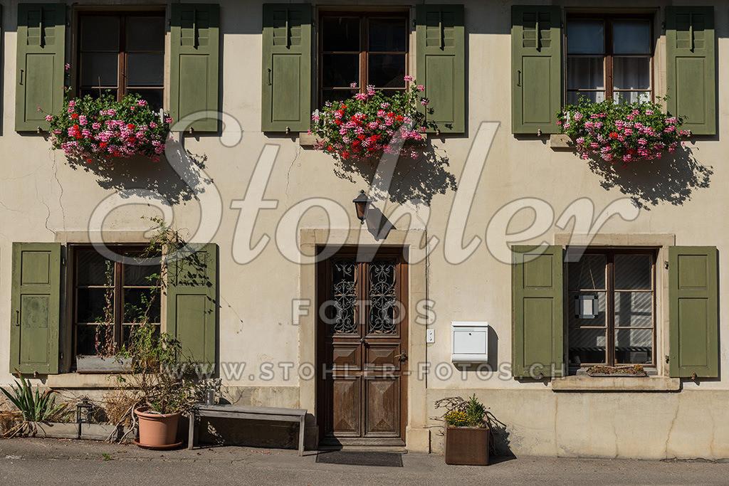 Altes Wohnhaus, Reigoldswil (BL) | Detailaufnahme eines alten Wohnhauses, Reigoldswil im Kanton Baselland.