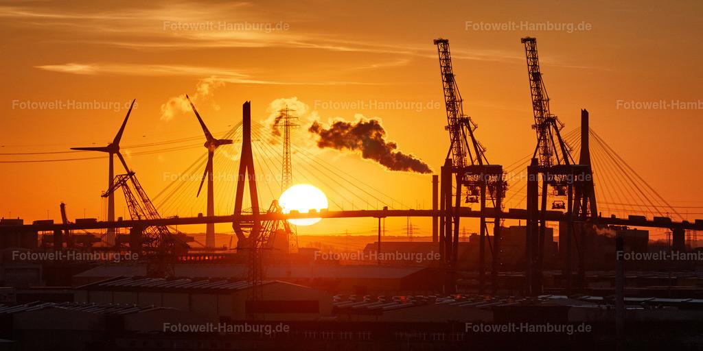 11859633 - Sonnenuntergang an der Köhlbrandbrücke