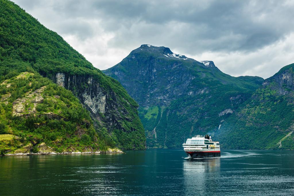 Blick auf den Geirangerfjord in Norwegen | Blick auf den Geirangerfjord in Norwegen.