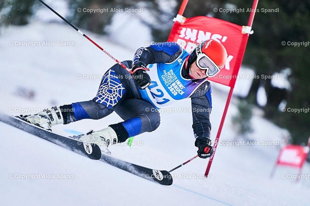 ALS5792_WWMG_GS-II_C | (C) FotoLois.com, Alois Spandl, WinterWorldMastersGames 2020 Innsbruck, Giant Slalom-II Gruppe C Damen, Patscherkofel Olympiaabfahrt, Mi 15. Jänner 2020.