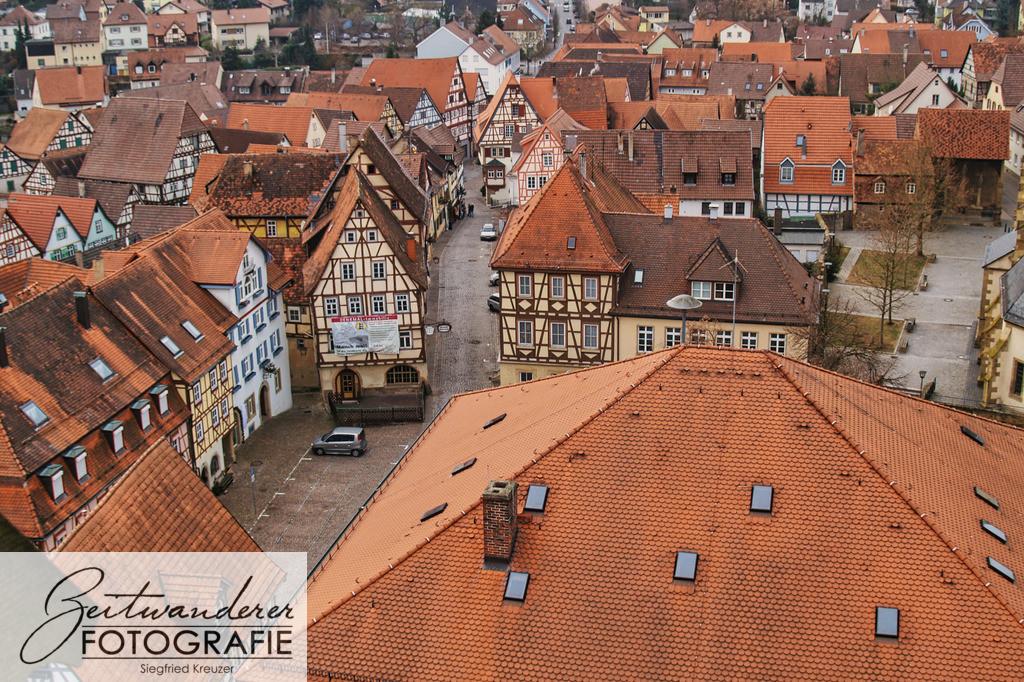 Blick vom Blauen Turm über Wimpfen | Blick vom Blauen Turm über die Altstadt Bad Wimpfens
