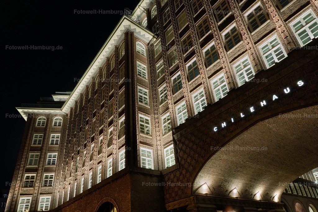hamburg bilder leinwand kontorhausviertel chilehaus bei nacht