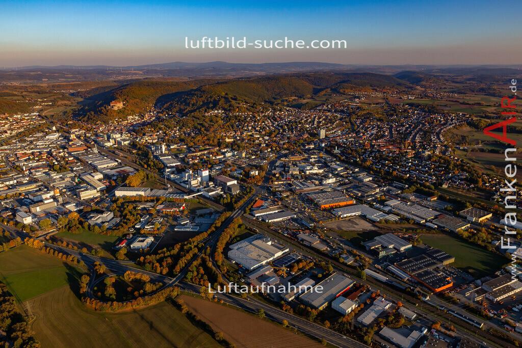 kulmbach-18-2790   aktuelles Luftbild von  Kulmbach - Luftaufnahme wurde 2018 von https://frankenair.de mittels Flugzeug (keine Drohne) erstellt.