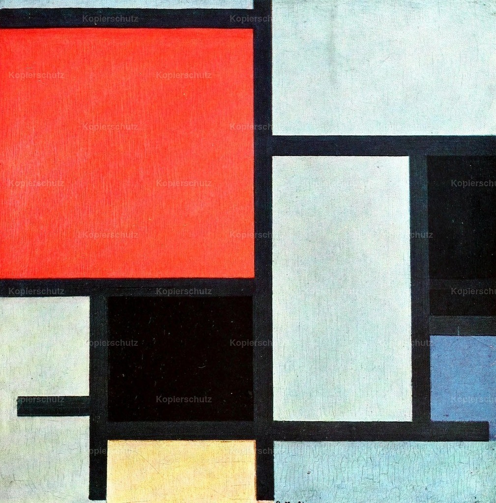 Mondrian_ Piet (1872-1944) - Composition with red_ yellow and blue  11921