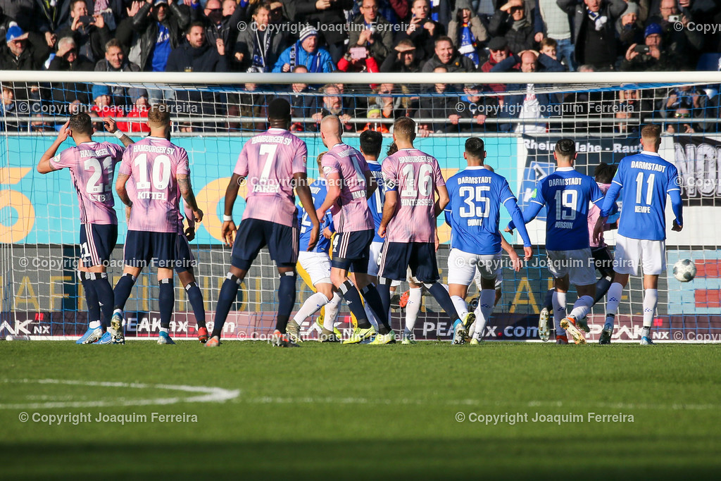 191221svdvshsv_0812 | 21.12.2019 Fussball 2.Bundesliga, SV Darmstadt 98-Hamburger SV emspor, despor  v.l.,  Bakery Jatta (Hamburger SV) Goal scored, Tor zum 1:2    (DFL/DFB REGULATIONS PROHIBIT ANY USE OF PHOTOGRAPHS as IMAGE SEQUENCES and/or QUASI-VIDEO)