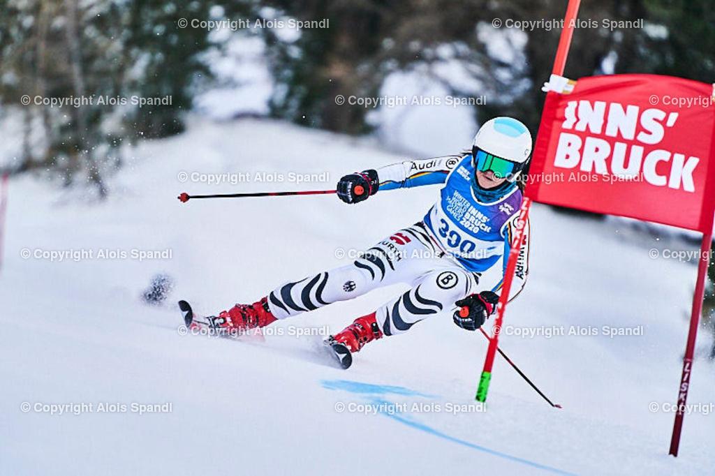 ALS5627_WWMG_GS-II_C | (C) FotoLois.com, Alois Spandl, WinterWorldMastersGames 2020 Innsbruck, Giant Slalom-II Gruppe C Damen, Patscherkofel Olympiaabfahrt, Mi 15. Jänner 2020.