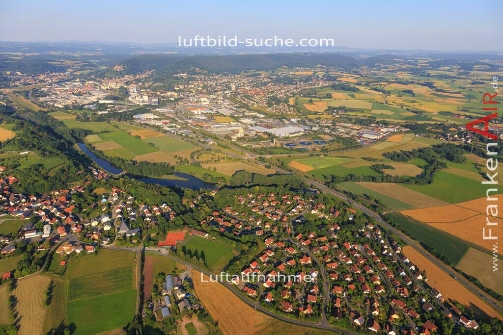 kulmbach-2015-1801   Luftbild von  Kulmbach - Luftaufnahme wurde 2015 von https://frankenair.de mittels Flugzeug (keine Drohne) erstellt - die Geschenkidee
