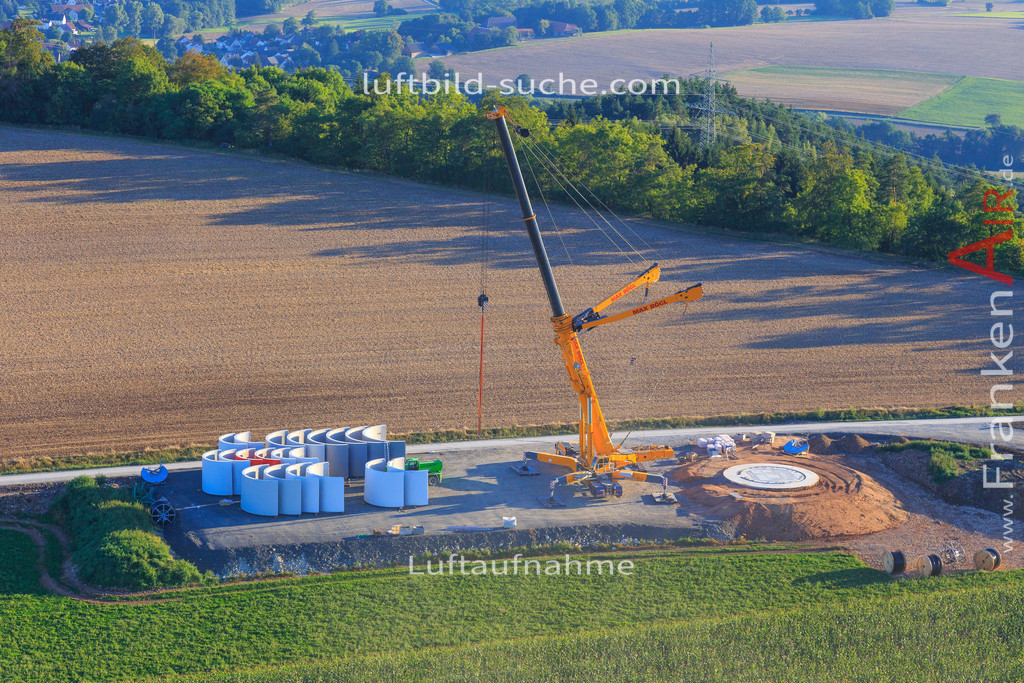 windpark--2016-223 | Luftbild von Windpark Kulmbach - Luftaufnahme wurde 2016 von https://frankenair.de mittels Flugzeug (keine Drohne) erstellt - die Geschenkidee