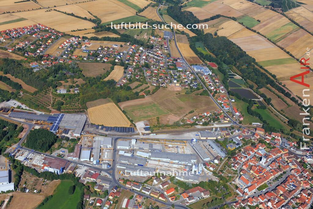 schluesselfeld-2015-2214   Luftbild von  Schluesselfeld - Luftaufnahme wurde 2015 von https://frankenair.de mittels Flugzeug (keine Drohne) erstellt - die Geschenkidee