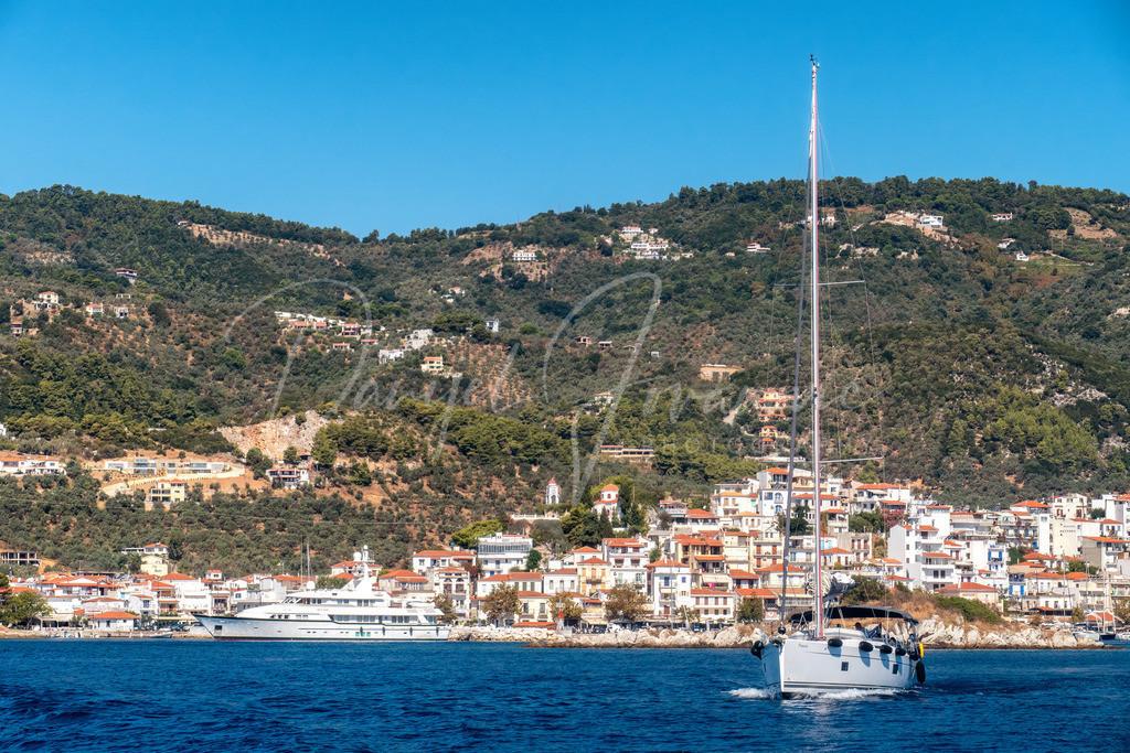 Skiathos | Segelboot for Skiathos Stadt