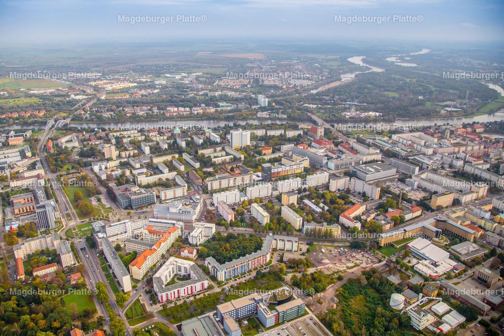 Luftbild Magdeburg Stadtmitte Katharinenturm Krökentor-6339