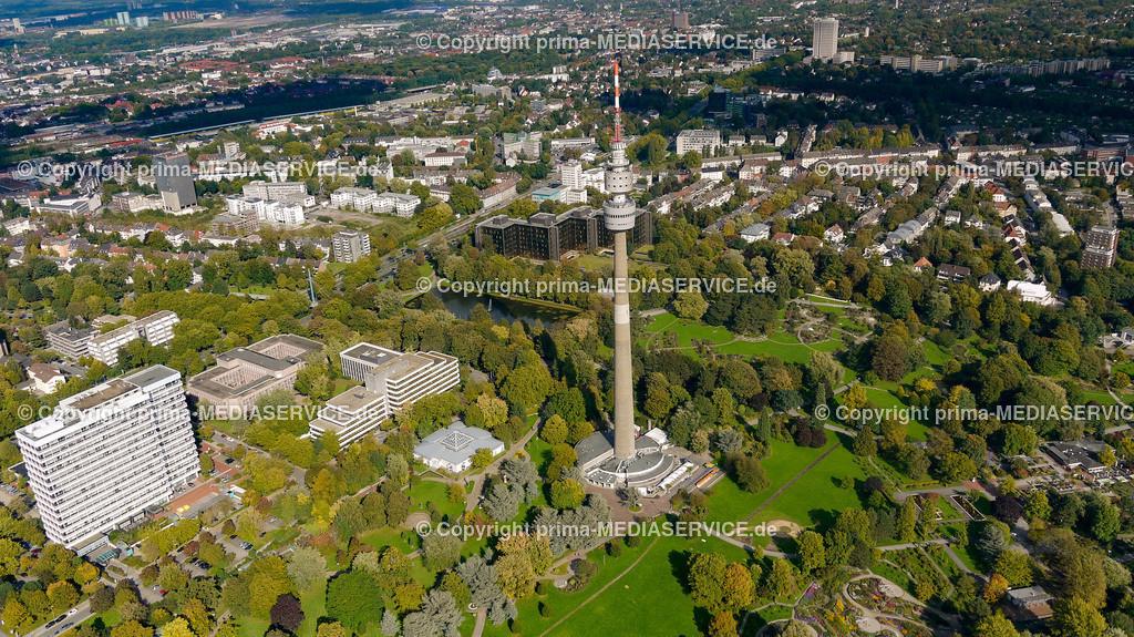 2010-10-01 Luftbilder Dortmund | Deutschland / Nordrhein-Westfalen / Dortmund / Dortmund / Florian Fernsehturm mit Innenstadt im Hintergrund Foto: Michael Printz / PHOTOZEPPELIN.COM