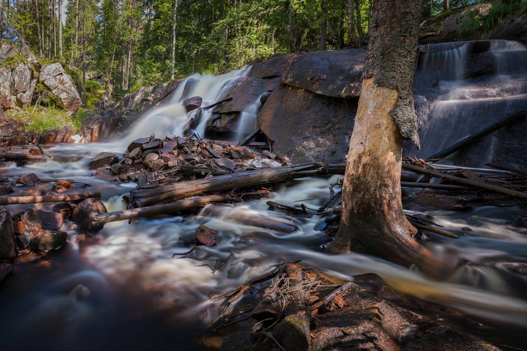 Am Brattfallet | Langzeitbelichtung in der Nähe des Brattfallet Wasserfalls.