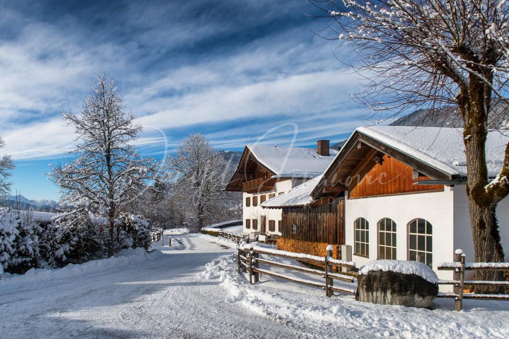 Gerold | Winter im Dorf Gerold in Oberbayern