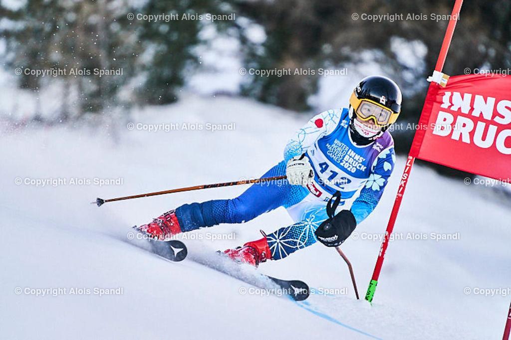 ALS5753_WWMG_GS-II_C   (C) FotoLois.com, Alois Spandl, WinterWorldMastersGames 2020 Innsbruck, Giant Slalom-II Gruppe C Damen, Patscherkofel Olympiaabfahrt, Mi 15. Jänner 2020.