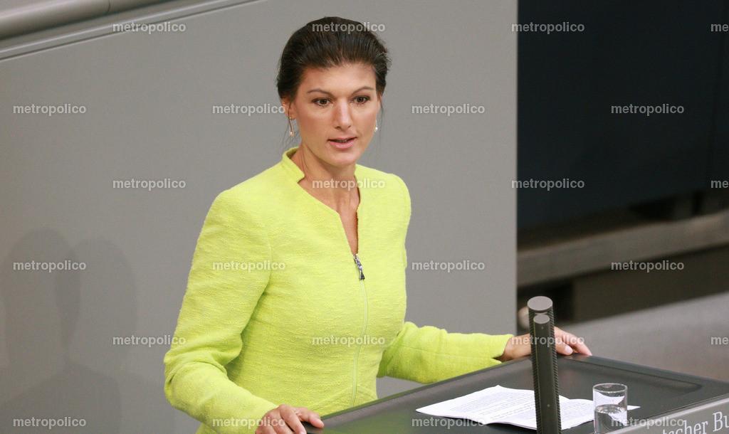 Sahra Wagenknecht spricht