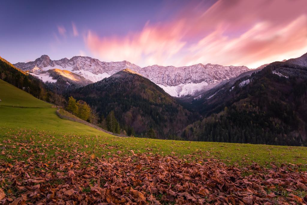 Sonnenuntergang in Zell Pfarre | Sonnenuntergang in Zell Pfarre in der Nähe von Ferlach