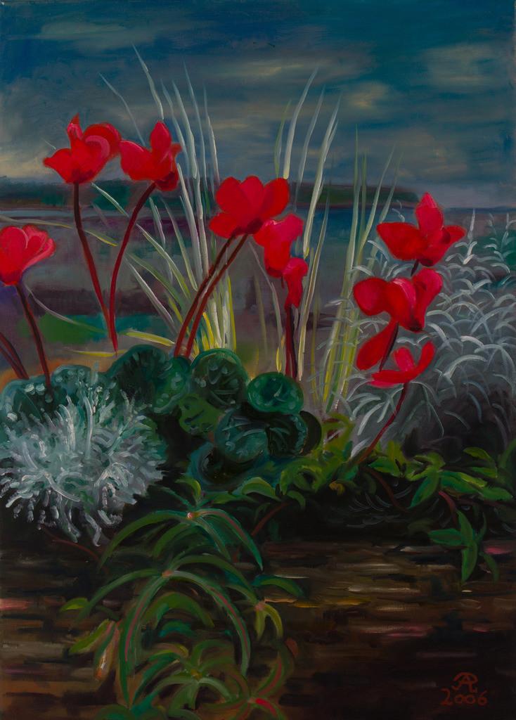 Leuchtend rote Alpenveilchen | Originalformat: 70x50cm  -  Produktionsjahr: 2006
