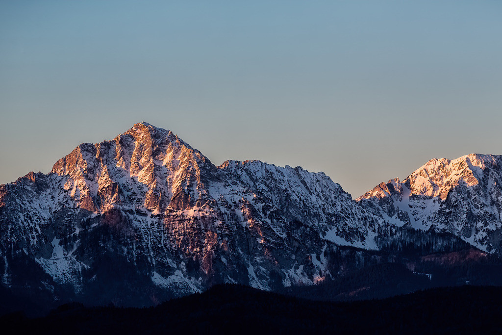Blick auf den Hochstaufen bei Sonnenaufgang | Blick auf den Hochstaufen bei Sonnenaufgang