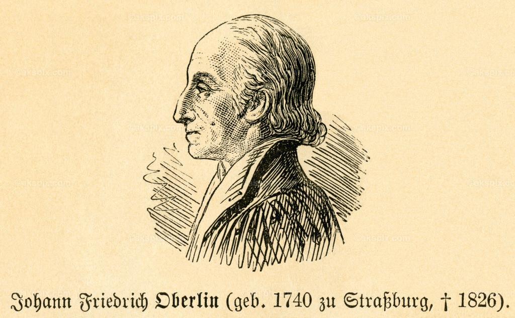 Johann Friedrich Oberlin / Johann Friedrich Oberlin | Europa, Frankreich, Straßburg,   Johann Friedrich Oberlin, französischer Theologe , Motiv aus :