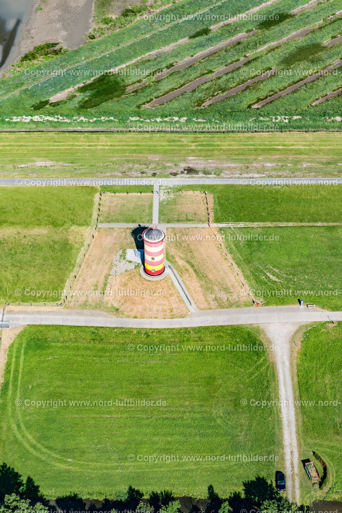 Pilsumer Leuchtturm_ELS_0656280618 | Pilsum - Aufnahmedatum: 28.06.2018, Aufnahmehöhe: 186 m, Koordinaten: N53°29.843' - E7°02.947', Bildgröße: 4508 x  6761 Pixel - Copyright 2018 by Martin Elsen, Kontakt: Tel.: +49 157 74581206, E-Mail: info@schoenes-foto.de  Schlagwörter:Niedersachsen,Leuchtturm,Luftbild, Luftbilder, Deutschland